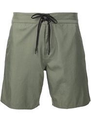 Outerknown Tie Fastening Deck Shorts Green