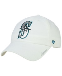 '47 Brand Women's Seattle Mariners Adjustable Clean Up Cap White