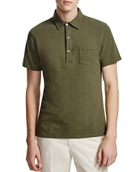 Hardy Amies Pique Slim Fit Polo Olive