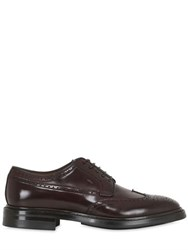 Silvano Sassetti Brushed Horse Leather Brogue Derby Shoes