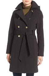 Guess Women's Hooded Softshell Trench Coat Black