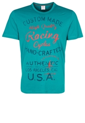 S.Oliver Print Tshirt Dark Teal Green Turquoise