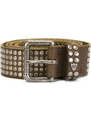 Htc Hollywood Trading Company Studded Belt Brown