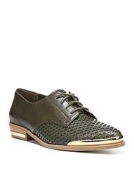 Fergie Invert Leather Oxfords Evergreen