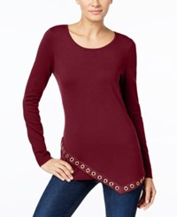 Inc International Concepts Asymmetrical Grommet Trim Tunic Only At Macy's Port