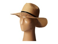 Bcbgeneration Floral Printed Fedora Floppy Natural Traditional Hats Beige