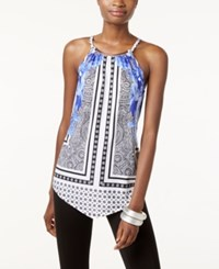 Inc International Concepts Multi Print Halter Top Only At Macy's Blue Placed Floral