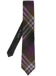 Etro Checked Tie Multicolour