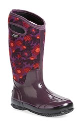Women's Bogs 'Watercolor' Waterproof Snow Boot With Cutout Handles Plum Multi
