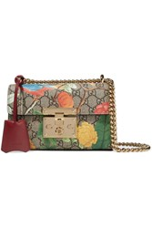 Gucci Padlock Small Coated Canvas And Leather Shoulder Bag Beige