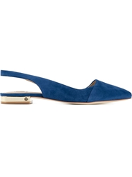 Tory Burch Sling Back Flats Blue