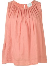 Forte Forte Pleated Tank Top Pink And Purple