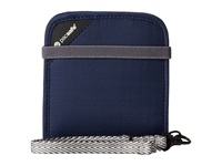 Pacsafe Rfidsafe V100 Anti Theft Rfid Blocking Bi Fold Wallet Navy Blue Bi Fold Wallet