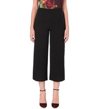Ted Baker Textured Cropped Crepe Trousers Black