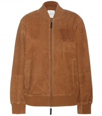 Wood Wood Calvin Suede Bomber Jacket Brown