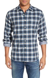 Grayers Men's 'Culver' Trim Fit Check Herringbone Double Woven Sport Shirt