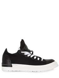 Cinzia Araia Canvas And Smooth Leather Sneakers