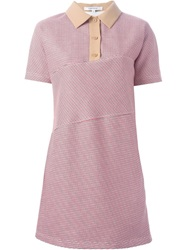 Carven Polo Dress Red