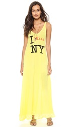 Wildfox Couture I Miss Ny Tank Maxi Dress Sunlight