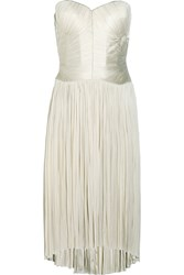 Finds Raya Plisse Silk Tulle Dress White