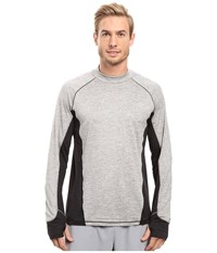 Brooks Dash Long Sleeve Top Heather Oxford Heather Black Men's Long Sleeve Pullover Gray