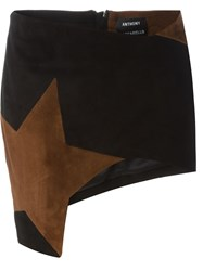 Anthony Vaccarello Star Patch Mini Skirt