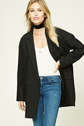 Forever 21 Contemporary Oversized Blazer Black