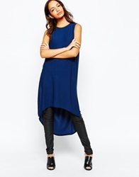 Daisy Street Maxi Tunic With Side Splits Peacockblue