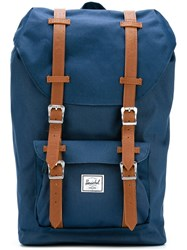 Herschel Supply Co. Double Strap Fastening Backpack Blue