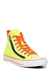 Converse Double Zip High Top Sneaker Unisex Yellow