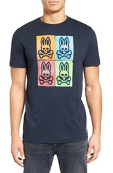 Psycho Bunny Men's Andy Graphic T Shirt Navy
