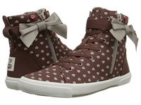 I Heart Ugg Hi Top Moonstruck Hearts Canvas Women's Lace Up Casual Shoes Brown