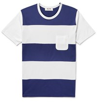Aloye Striped Cotton Jersey T Shirt Blue