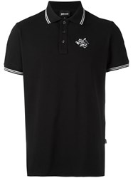 Just Cavalli Embroidered Logo Polo Shirt Black
