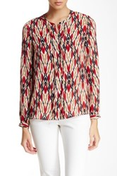 Laundry By Shelli Segal Printed Long Sleeve Blouse Red