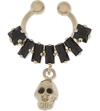 Givenchy Skull Clip On Septum Ring Black Gold