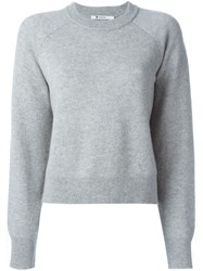 T By Alexander Wang Crew Neck Sweater Grey
