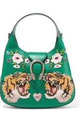 Gucci Dionysus Small Appliqued Leather Tote Emerald