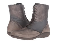 Naot Footwear Atopa Vintage Grey Leather Shadow Gray Leather Gray Shimmer Leather Women's Boots Brown