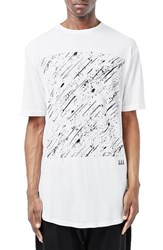 Topman Men's 'Aaa Collection' Splatter Square Graphic T Shirt
