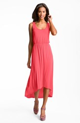 Women's Felicity And Coco High Low Hem Jersey Tank Dress Coral