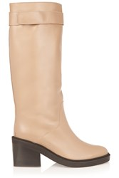 Helmut Lang Leather Boots Nude