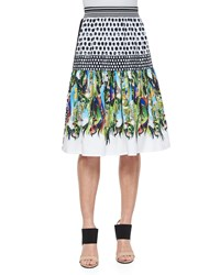 Clover Canyon Flourishing Oasis Mixed Print Skirt Multi Colors