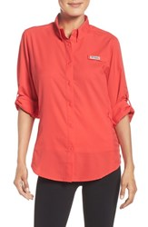 Columbia Women's 'Tamiami' Long Sleeve Top Red Camellia