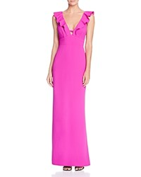Abs By Allen Schwartz Sleeveless Ruffled V Neck Gown 100 Bloomingdale's Exclusive Orchid