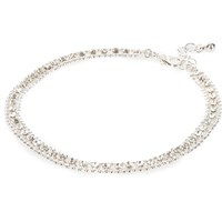 River Island Womens Silver Tone Embellished Anklet