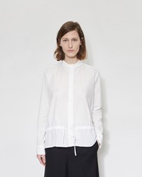 Y's Gather Blouse White