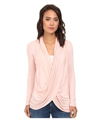 Gabriella Rocha Cowl Neck Long Sleeve Top Pink Women's Clothing