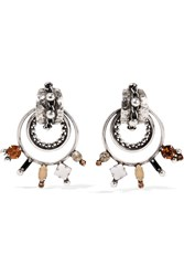 Dannijo Brigid Oxidized Silver Plated Swarovski Crystal Earrings