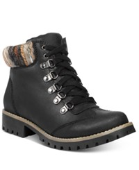 White Mountain Cliffs By Portsmouth Lace Up Hiking Boots Women's Shoes Black